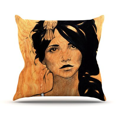 Orange Outdoor Throw Pillow