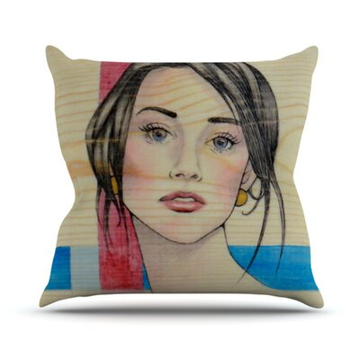 Face Outdoor Throw Pillow