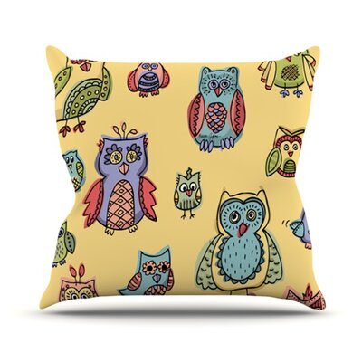 Owls by Brienne Jepkema Cotton Blend Throw Pillow