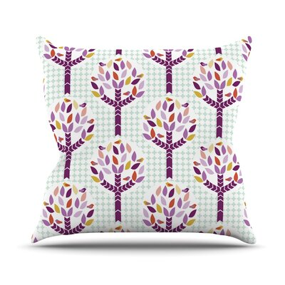 Orchid Spring Tree Outdoor Throw Pillow