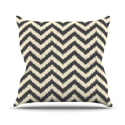 Chevron Ikat Outdoor Throw Pillow
