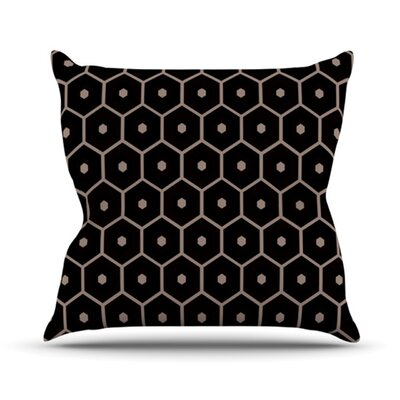 Tiled Mono Outdoor Throw Pillow