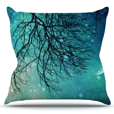 Winter Moon by Sylvia Cook Outdoor Throw Pillow
