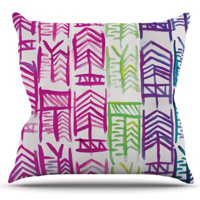 Quiver by Theresa Giolzetti Outdoor Throw Pillow Color: White/Blue