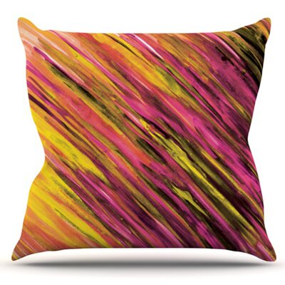 Set by Theresa Giolzetti Outdoor Throw Pillow Color: Orange