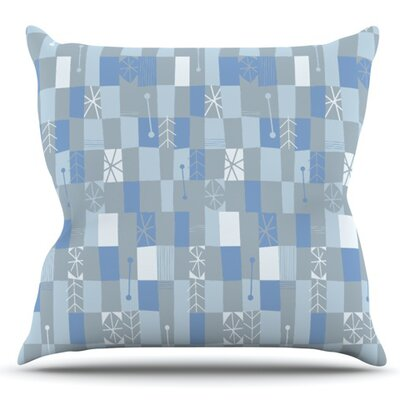 Nature Check Winter by Allison Beilke Outdoor Throw Pillow
