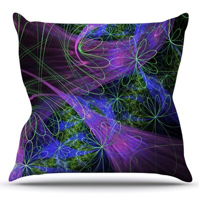 Floral Garden by Alison Coxon Outdoor Throw Pillow