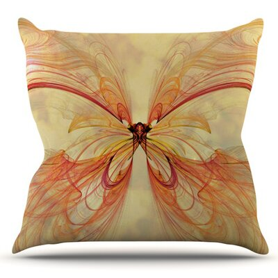 Papillon by Alison Coxon Outdoor Throw Pillow
