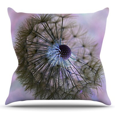 Dandelion Clock by Alison Coxon Outdoor Throw Pillow