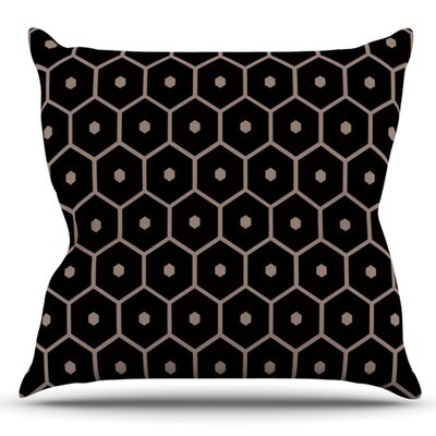 Tiled Mono by Budi Kwan Outdoor Throw Pillow