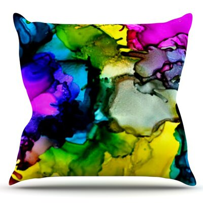 A Little Out There by Claire Day Outdoor Throw Pillow
