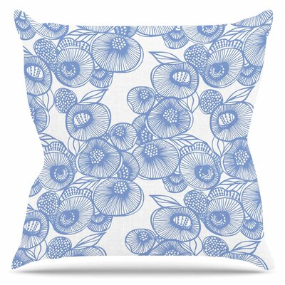 Protea Graphite by Gill Eggleston Outdoor Throw Pillow
