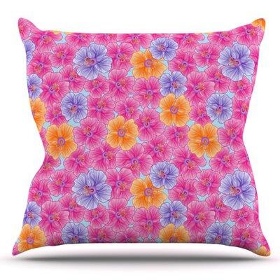 My Garden by Julia Grifol Outdoor Throw Pillow