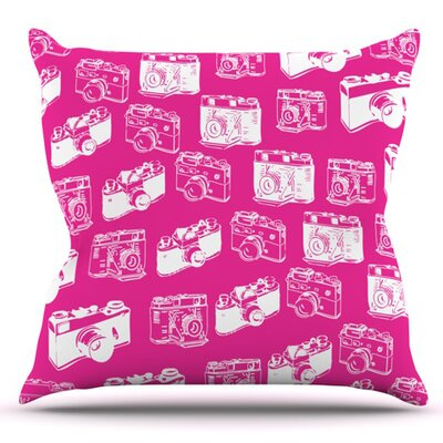 Camera Pattern Outdoor Throw Pillow