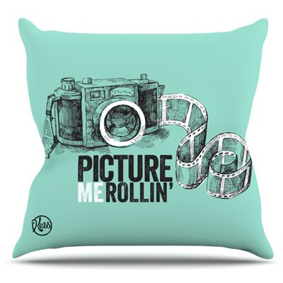 Picture Me Rollin Outdoor Throw Pillow