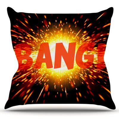 Bang Outdoor Throw Pillow