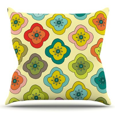 Forest Bloom by Nicole Ketchum Outdoor Throw Pillow