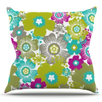 Little Bloom by Nicole Ketchum Outdoor Throw Pillow