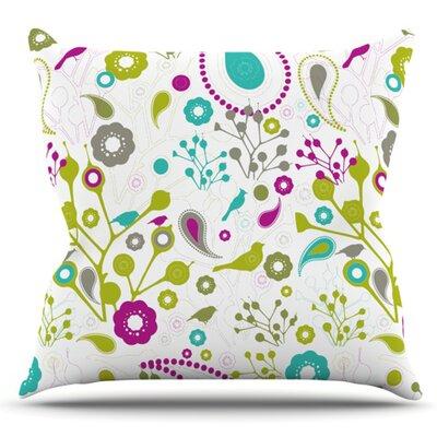 Bird Fantasy by Nicole Ketchum Outdoor Throw Pillow