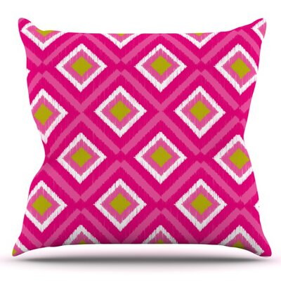 Moroccan Tile by Nicole Ketchum Outdoor Throw Pillow