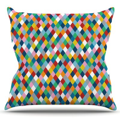 Harlequin by Project M Outdoor Throw Pillow