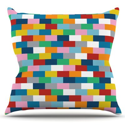 Bricks by Project M Outdoor Throw Pillow