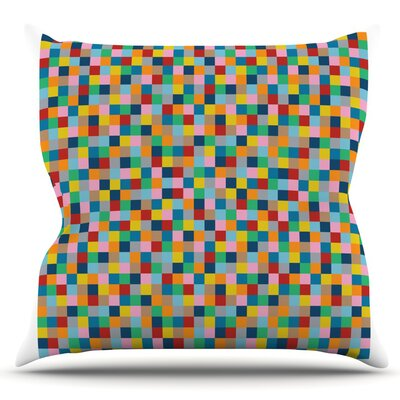 Colour Blocks by Project M Outdoor Throw Pillow