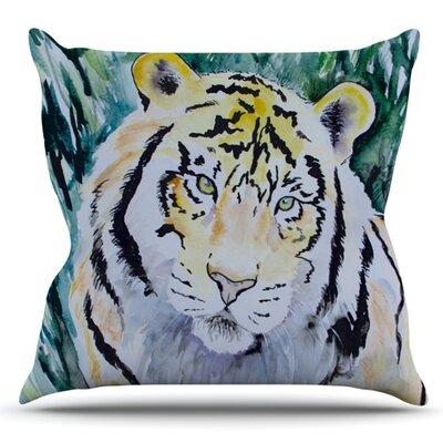 Tiger by Padgett Mason Outdoor Throw Pillow