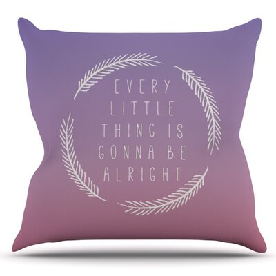 Little Thing by Galaxy Eyes Outdoor Throw Pillow