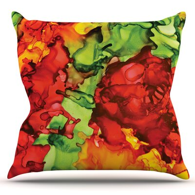 One Love by Claire Day Outdoor Throw Pillow