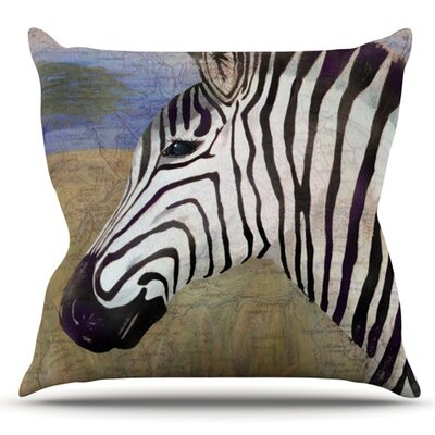 Zebransky by Catherine Holcombe Outdoor Throw Pillow