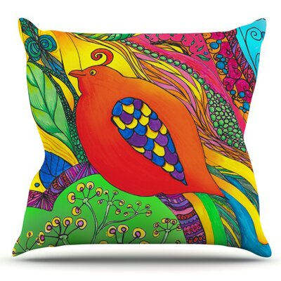 Psycho-Delic Dan by Catherine Holcombe Outdoor Throw Pillow