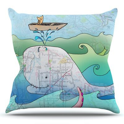 Im on a Boat by Catherine Holcombe Outdoor Throw Pillow