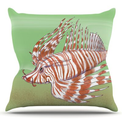 Fish Manchu by Catherine Holcombe Outdoor Throw Pillow