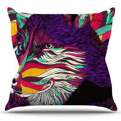 Color Husky by Danny Ivan Outdoor Throw Pillow