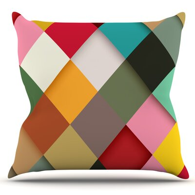 Colorful by Danny Ivan Outdoor Throw Pillow