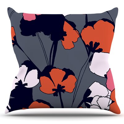 Pop Flowers by Gabriela Fuente Outdoor Throw Pillow