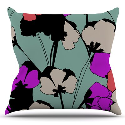 Vintage Flowers by Gabriela Fuente Outdoor Throw Pillow