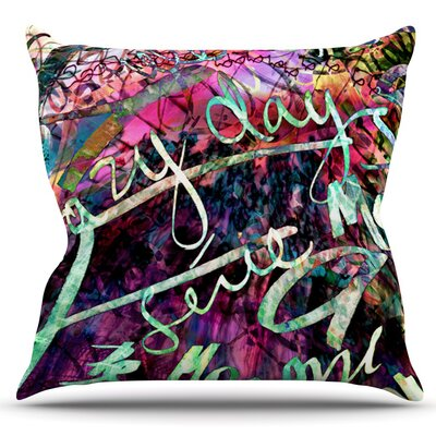 Crazy Day by Gabriela Fuente Outdoor Throw Pillow