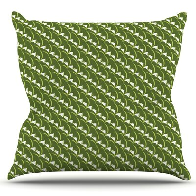 Deco Calla Lily by Holly Helgeson Outdoor Throw Pillow