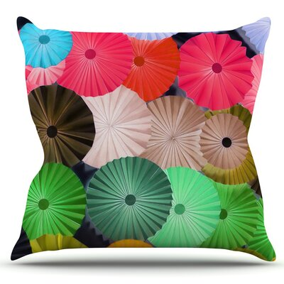 Parasol by Heidi Jennings Outdoor Throw Pillow