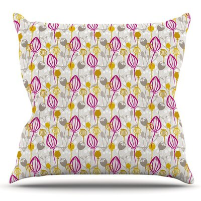 Mulberry by Julie Hamilton Outdoor Throw Pillow