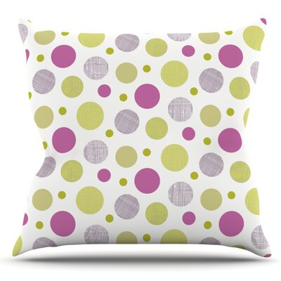 Rhapsody Dot by Julie Hamilton Outdoor Throw Pillow