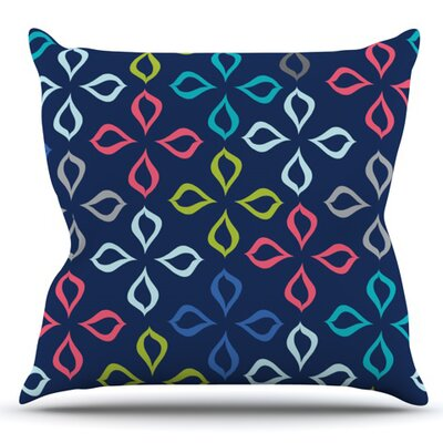 Simple Flower by Jolene Heckman Outdoor Throw Pillow