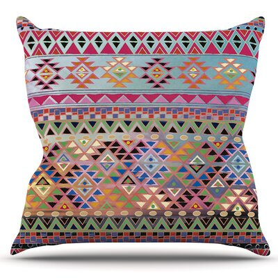 Tribal Native by Nika Martinez Outdoor Throw Pillow