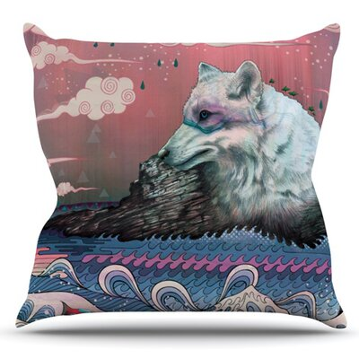 Lone Wolf by Mat Miller Outdoor Throw Pillow