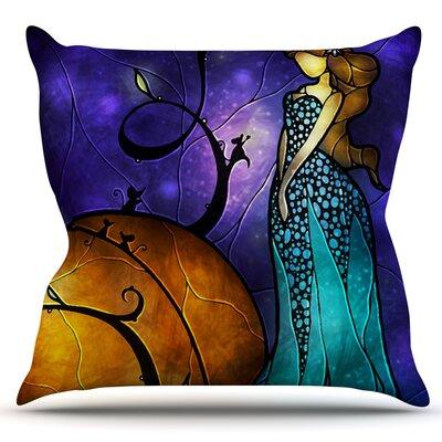 Cinderella by Mandie Manzano Outdoor Throw Pillow