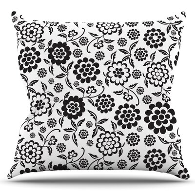 Cherry Floral by Nicole Ketchum Outdoor Throw Pillow
