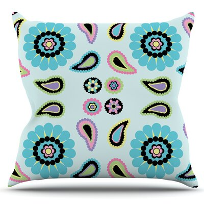 Paisley Candy by Nina May Outdoor Throw Pillow