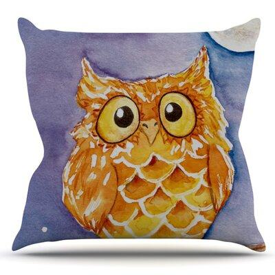 Little Hoot by Padgett Mason Outdoor Throw Pillow